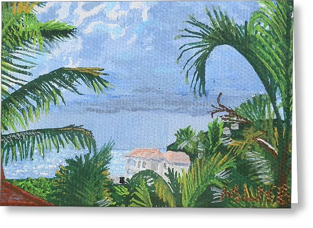 St Margaret Paintings Greeting Cards - Villa in Guana Bay Greeting Card by Margaret Brooks