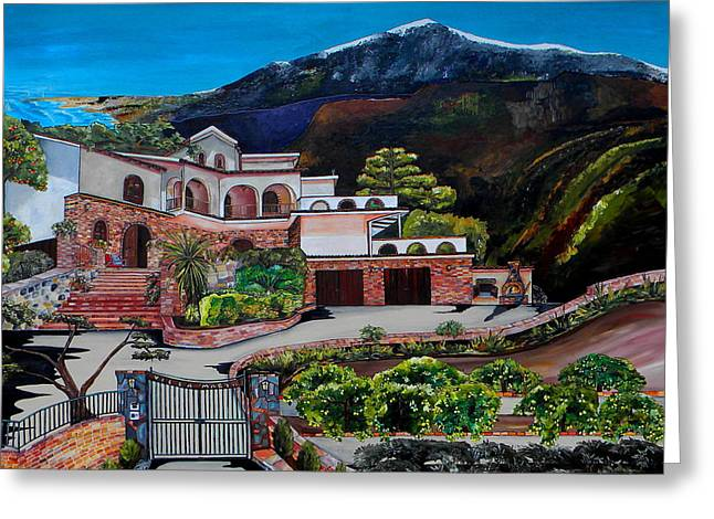 Villa Maria Greeting Card by Patti Schermerhorn
