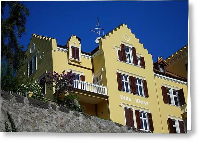 Villa Weiss Greeting Card by Juergen Weiss