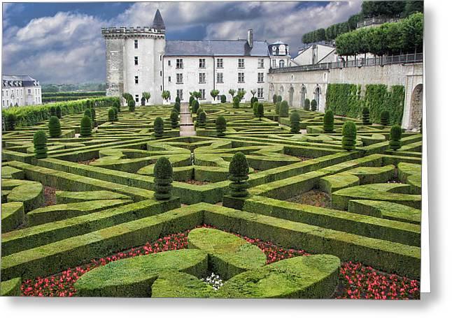Villandry - Gardens - Chateau Greeting Card by Nikolyn McDonald
