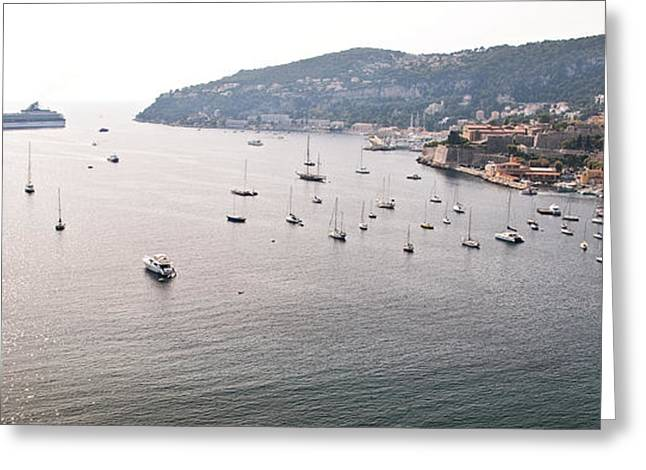 Boat Cruise Greeting Cards - Villefranche-sur-Mer Greeting Card by Steven Sparks