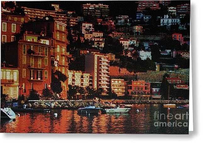 Artistic Landscape Photos Greeting Cards - Villefranche sur mer Greeting Card by Tom Prendergast