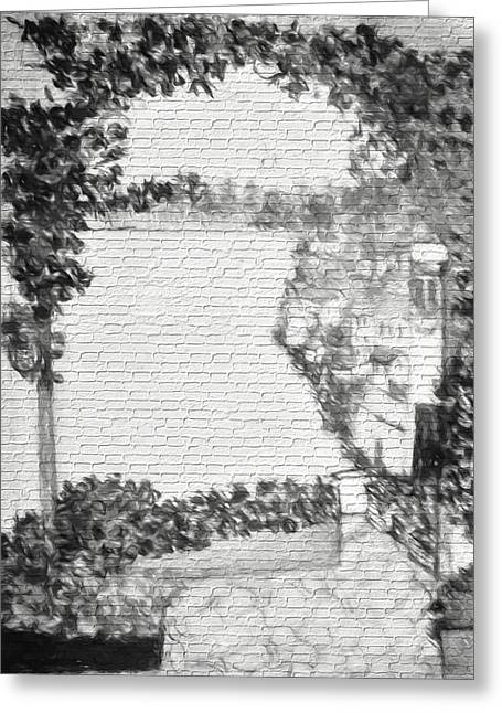 Villlage By The Sea Urban Street Art Greeting Card by Debra Lynch