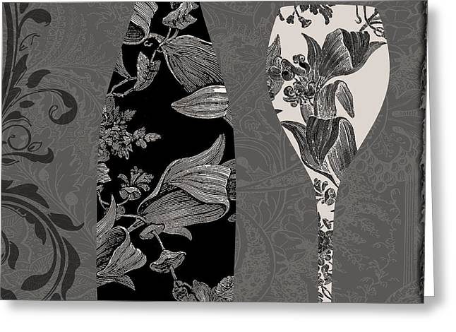 Table Wine Greeting Cards - Vin Elegant II Greeting Card by Mindy Sommers