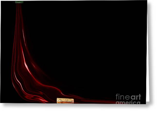 Red Wine Prints Greeting Cards - Vin Rouge - Red Wine Greeting Card by Kathryn L Novak