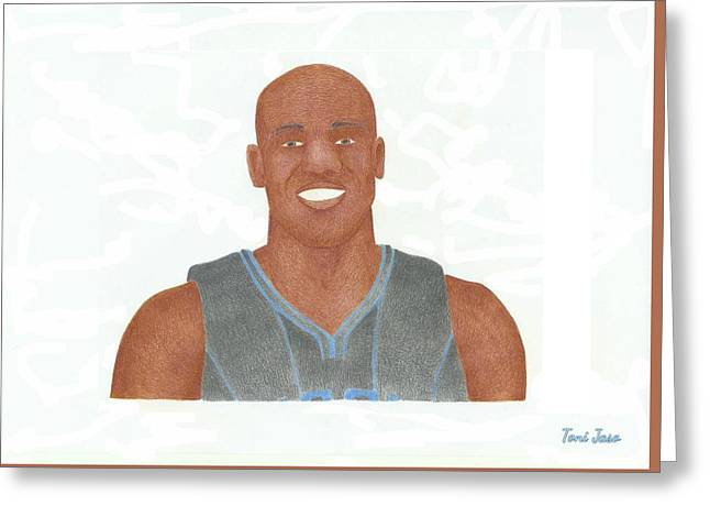 Vince Carter Greeting Card by Toni Jaso