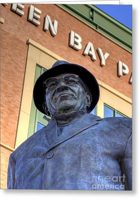 Vince Greeting Cards - Vince Lombardi Greeting Card by Joel Witmeyer