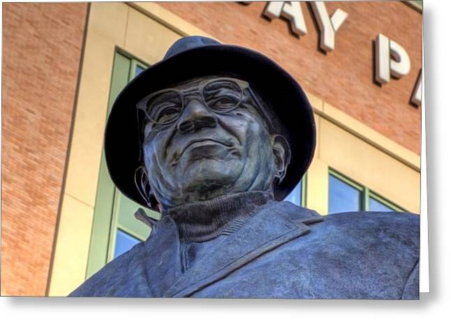 Vince Lombardi Greeting Card by Joel Witmeyer