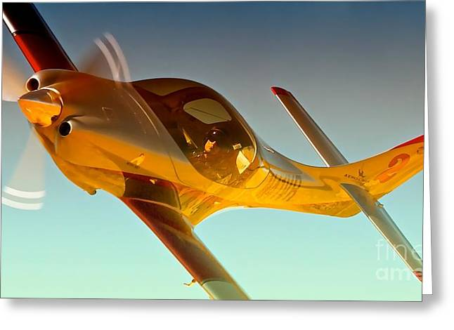 Vince Digital Greeting Cards - Vince Walker and Lancair Legacy Race 2 Modo Mio 2010 Reno Air Races Greeting Card by Gus McCrea