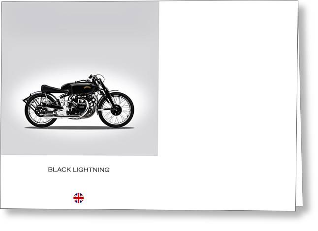 Shadows Greeting Cards - Vincent Black Lightning Greeting Card by Mark Rogan
