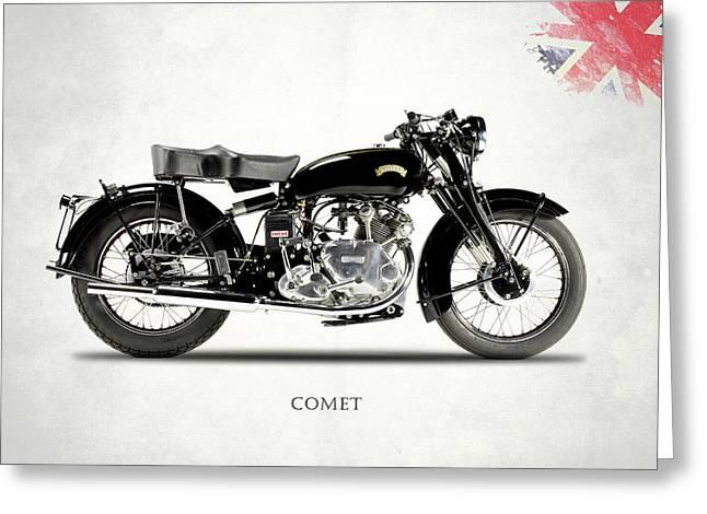 Vincent Comet Series C Greeting Card by Mark Rogan