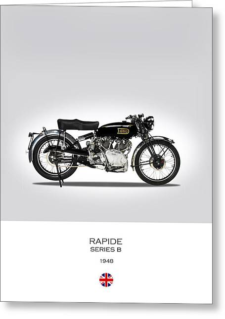 Vincent Hrd Rapide 1948 Greeting Card by Mark Rogan