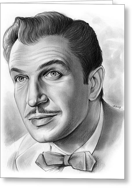 Vincent Price Greeting Card by Greg Joens