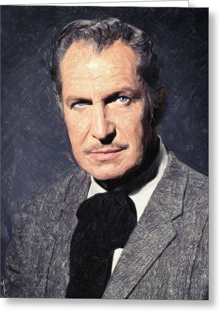 Horror Film Greeting Cards - Vincent Price Greeting Card by Taylan Soyturk