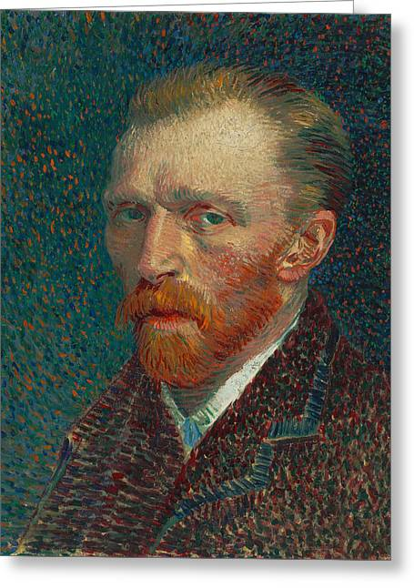 Vincent Van Gogh Self Portrait - 1887 Greeting Card by War Is Hell Store