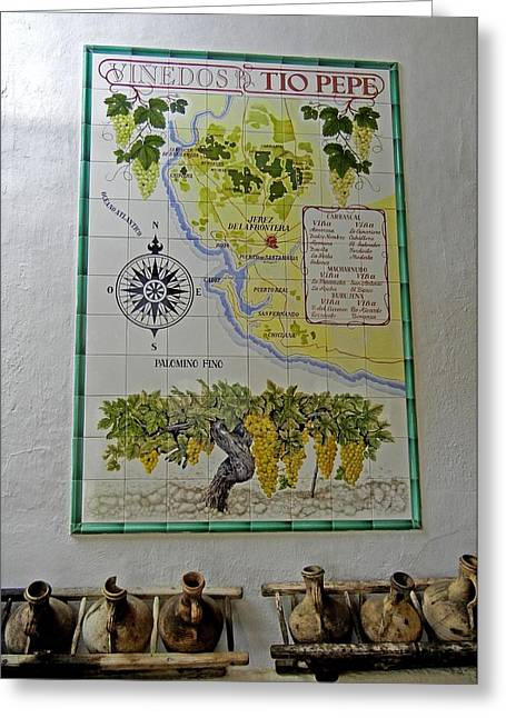 Vineyard Art Greeting Cards - Vinedos Tio Pepe - Jerez de la Frontera Greeting Card by Juergen Weiss