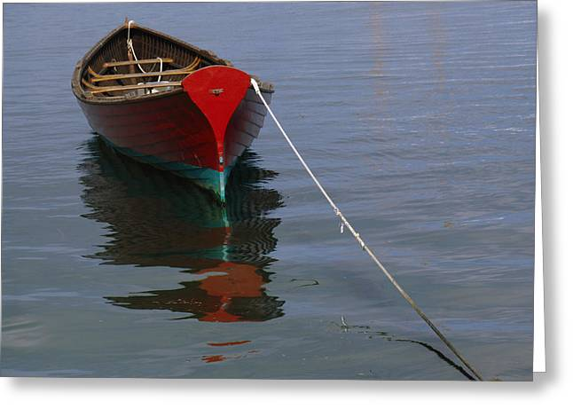 Vineyard Haven Greeting Cards - Vineyard Haven Reflection Greeting Card by Juergen Roth
