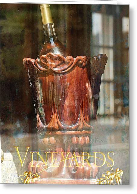 Vineyard Landscape Mixed Media Greeting Cards - Vineyards Tuscany Wine Print Greeting Card by Anahi DeCanio - ArtyZen Studios