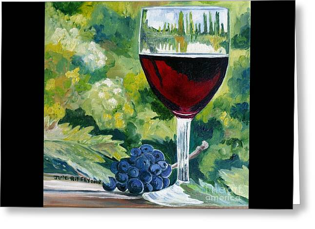 Wine Scene Greeting Cards - Vino Rosso Greeting Card by Julie Brugh Riffey