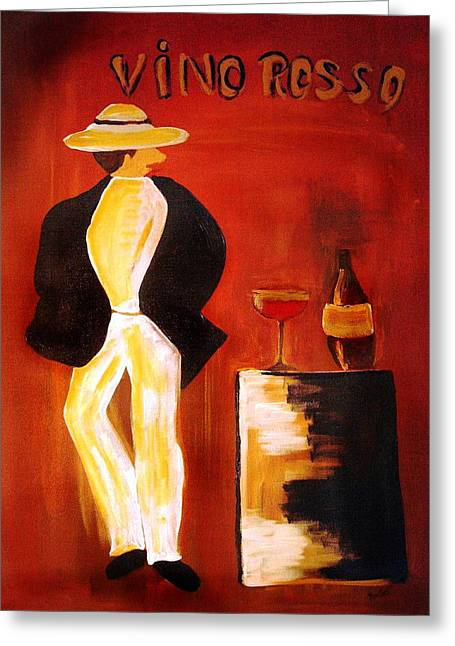 Vino Rosso Greeting Cards - Vinorosso Greeting Card by Helmut Rottler