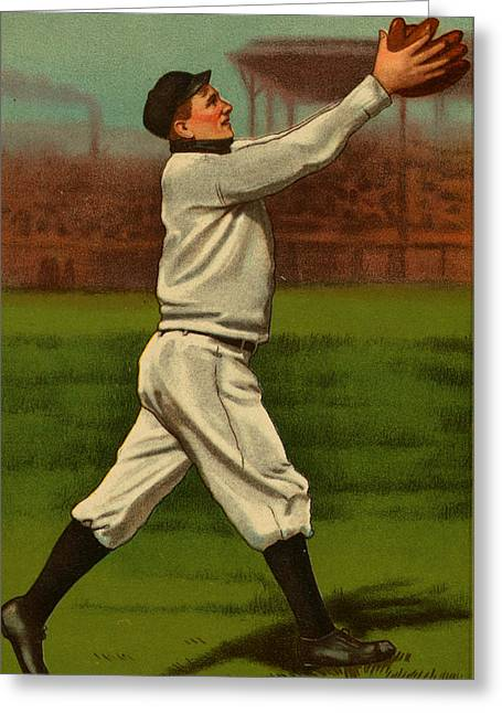 Player Drawings Greeting Cards - Vintage 1910 - 1911 Baseball Card #01 Greeting Card by Just Eclectic