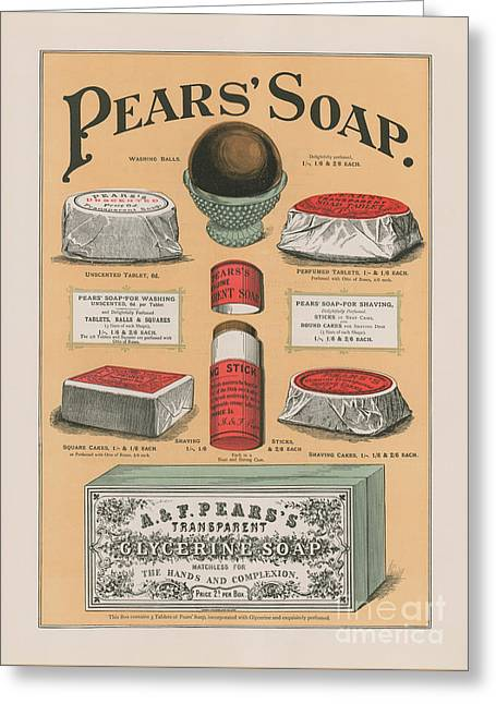 Vintage Advertisement For Pears' Soap Greeting Card by English School