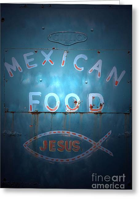 Mexican Food Greeting Cards - Vintage Americana No 2 Greeting Card by C E Dyer