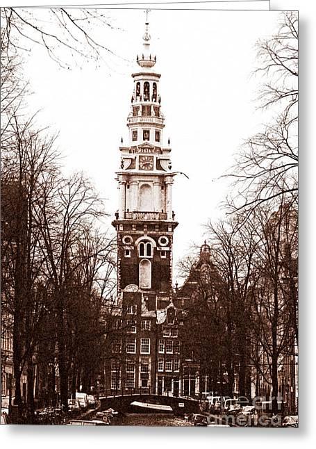 Vintage Amsterdam Greeting Card by John Rizzuto