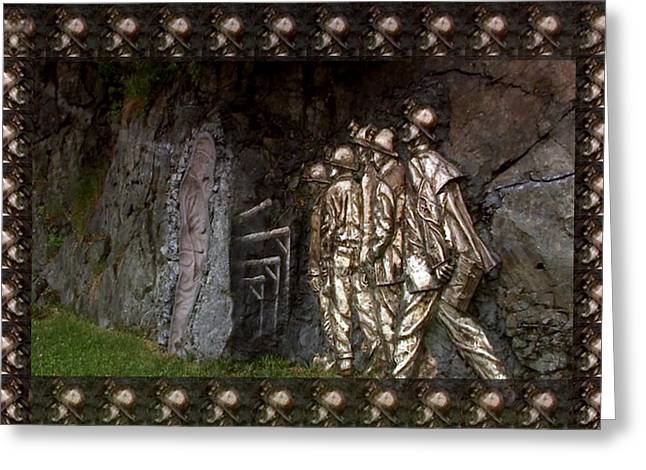 Concern Mixed Media Greeting Cards - Vintage Art Photography Canadian  Gold Miners Museum  Digital processing for the border and presenta Greeting Card by Navin Joshi