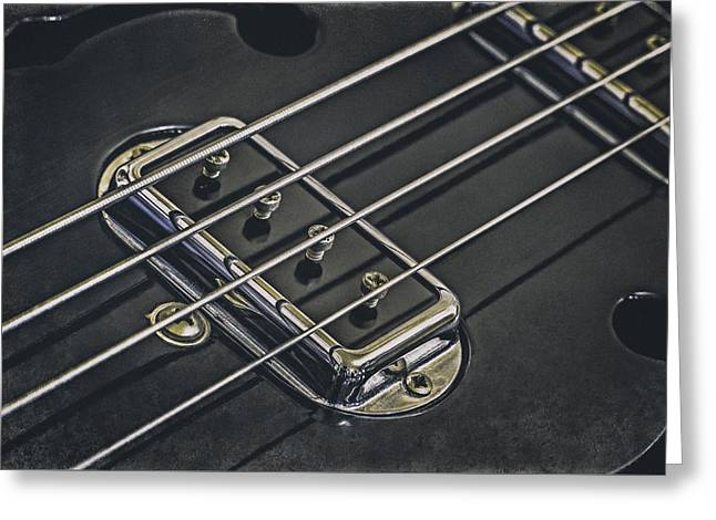 Vintage Bass Greeting Card by Scott Norris