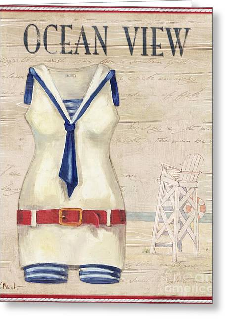 Vintage Bathing Suits IIi Greeting Card by Paul Brent