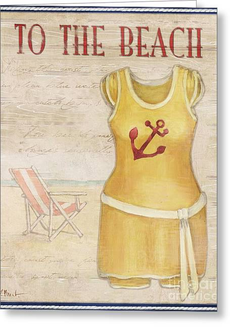 Vintage Bathing Suits Iv Greeting Card by Paul Brent