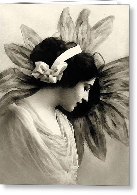 Vintage Beauty Greeting Cards - Vintage Beauty Greeting Card by Georgiana Romanovna