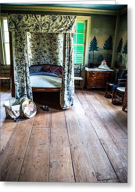 Sturbridge Village Greeting Cards - Vintage Bedroom Greeting Card by Karol  Livote