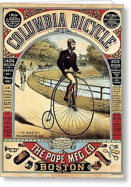 The Pope Greeting Cards - Vintage Bicycle Advertisement Greeting Card by Jon Neidert