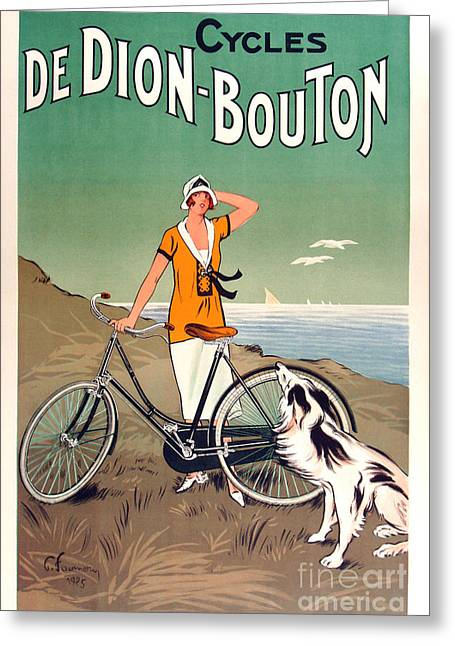Vintage Bicycle Advertising Greeting Card by Mindy Sommers