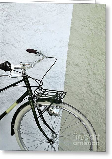 Straps Greeting Cards - Vintage Bicycle Greeting Card by Carlos Caetano