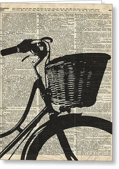 Vintage Bicycle Mixed Media Greeting Cards - Vintage bicycle Greeting Card by Jacob Kuch