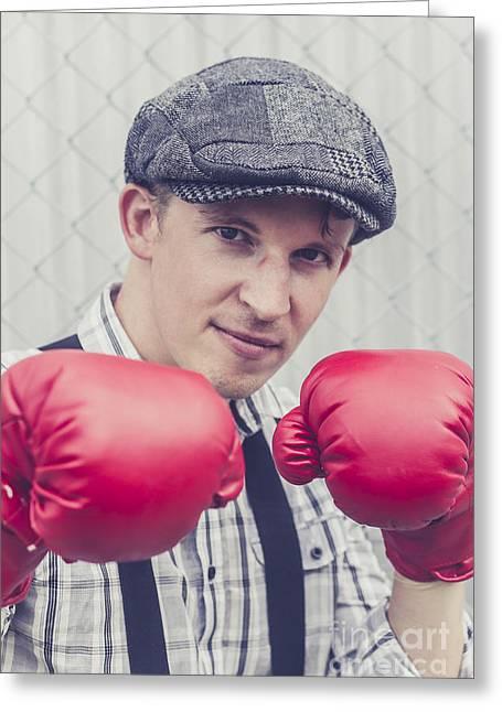 Reflex Greeting Cards - Vintage boxers Greeting Card by Ryan Jorgensen