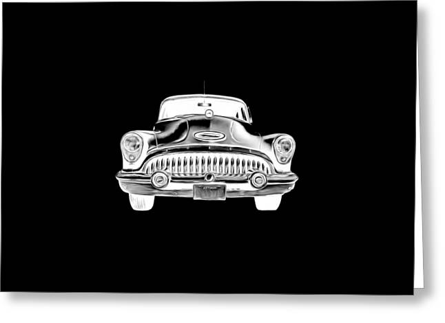 Auto Drawings Greeting Cards - Vintage Buick Car Tee Greeting Card by Edward Fielding