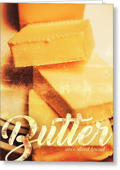 Vintage Butter Advertising. Kitchen Art Greeting Card by Jorgo Photography - Wall Art Gallery