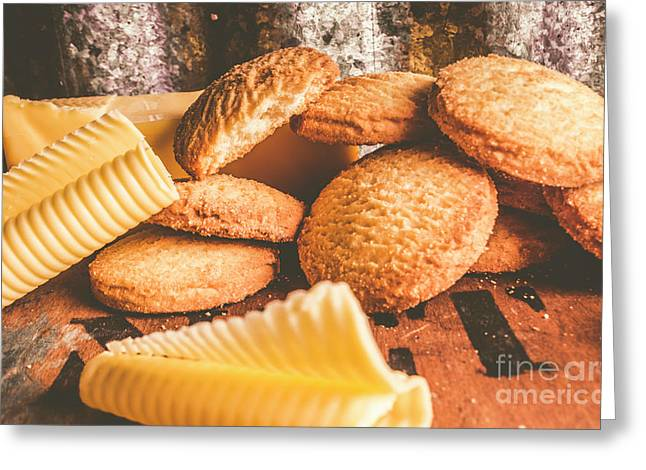 Vintage Butter Shortbread Biscuits Greeting Card by Jorgo Photography - Wall Art Gallery