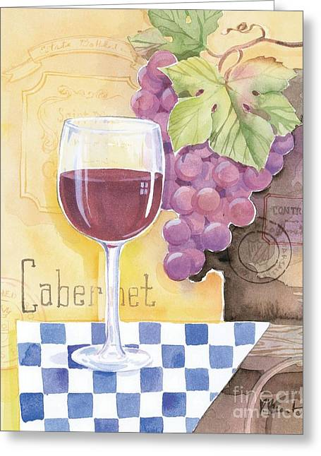 Purple Grapes Greeting Cards - Vintage Cabernet Greeting Card by Paul Brent