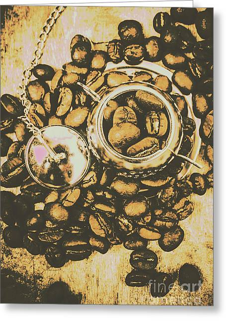 Vintage Cafe Artwork Greeting Card by Jorgo Photography - Wall Art Gallery