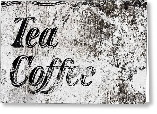 Vintage Cafe Sign Greeting Card by Tom Gowanlock
