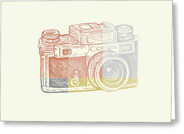 Vintage Camera 2 Greeting Card by Brandi Fitzgerald