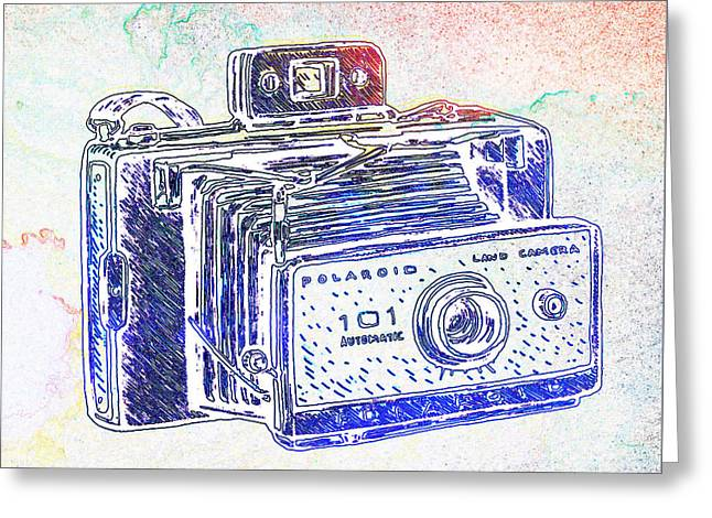 Vintage Camera 4 Greeting Card by Brandi Fitzgerald