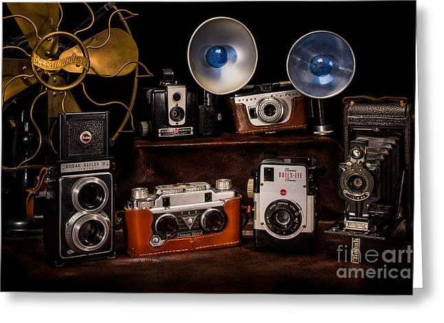 Reflex Greeting Cards - Vintage Camera Family Greeting Card by William Doree