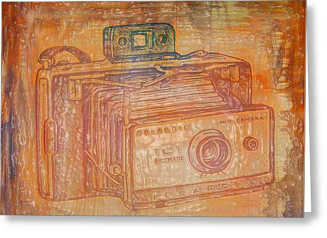 Vintage Camera Textured Greeting Card by Brandi Fitzgerald