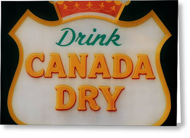 Soft Drink Greeting Cards - Vintage Canada Dry Sign 3 Greeting Card by Andrew Fare